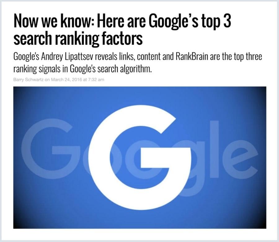Google seo faktory